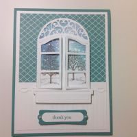 My Window card. Spellbinders Window Two, Stampin Up Lovely ...