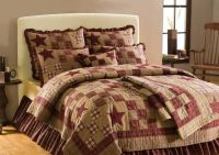 Country and Primitive Bedding, Quilts - Star Patch Bedding ...