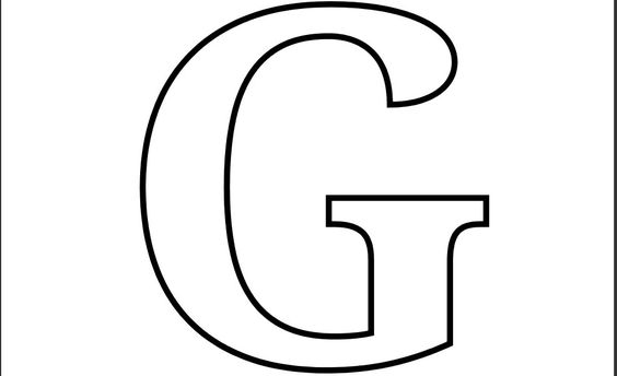 Coloring pages, Letter g and Coloring on Pinterest