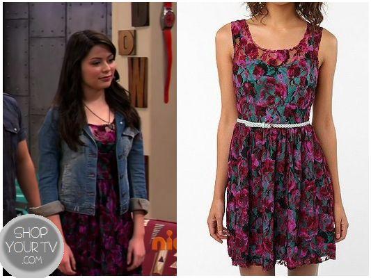iCarly Season 7 Episode 2 Carly39s Purple Lace Dress