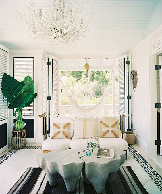 New York interior designer Celerie Kemble has recently brought her smart blending of the classic and the contemporary to the Dominican Republic, where she and a score of friends have created a genre-defying beachfront playground in the jungle — Playa Grande Beach Club — with nine enticing gingerbread bungalows offering guests a unique home-away-from-home resort stay.: