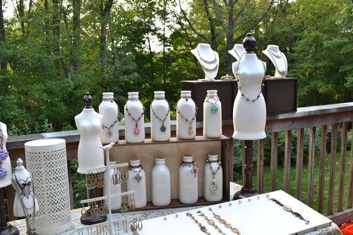 Unusual Craft Fair Displays Painted Milk Bottles