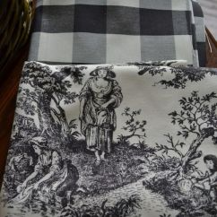 French Country Kitchen Chair Cushions Wedding Covers Etsy Toile, Gingham And Buffalo Check On Pinterest