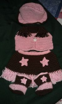 Crochet infant cowgirl outfit   my sweet baby girl ...