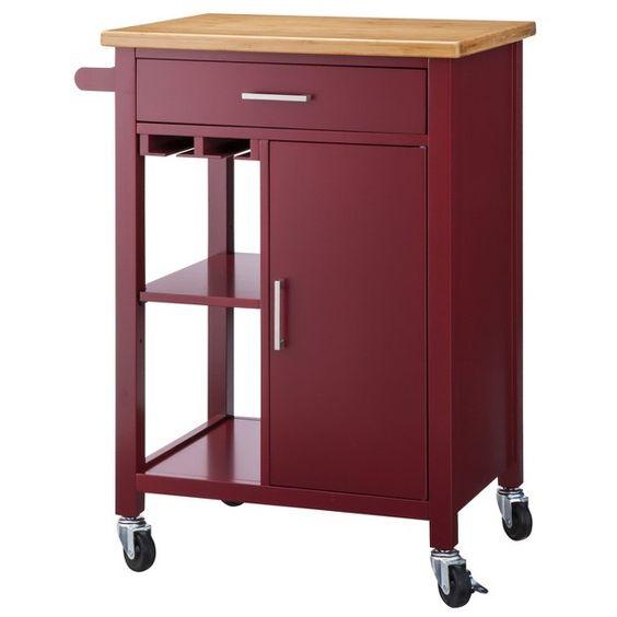 RED Kitchen Storage Cart at Targetcom  BURGUNDY  WINE