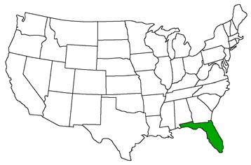 Florida, Geography and US states on Pinterest