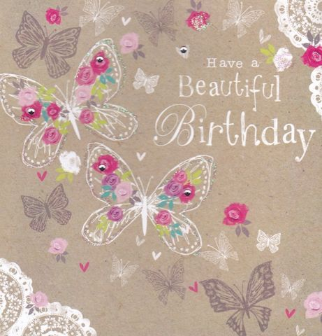 Beautiful Birthday Butterflies Card Buy Birthday Cards