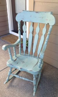 Shabby chic rocking chair... | Country things I love ...