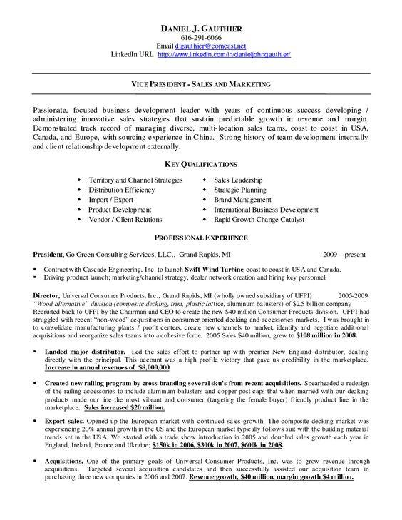 linkedin url on resume example vice president sales business development resume