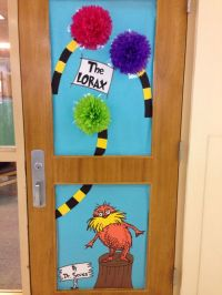 Lorax door for Dr. Seuss Day | School Library Decorations ...