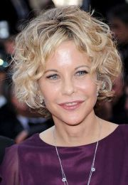 stylish and short curly hair