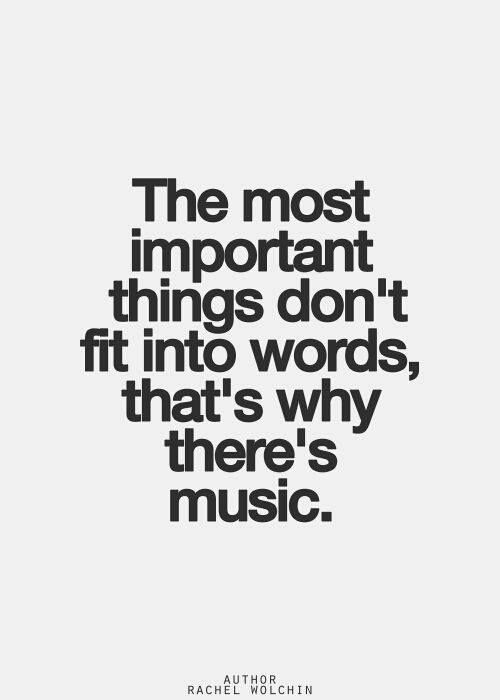 The most important things don't for into words, that's why