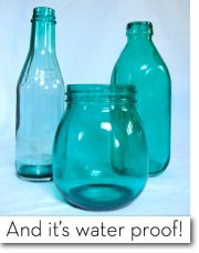 glass paint acetone and bottles