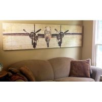 Bomber Plane Wooden Triptych Wall Art, great for aviation ...