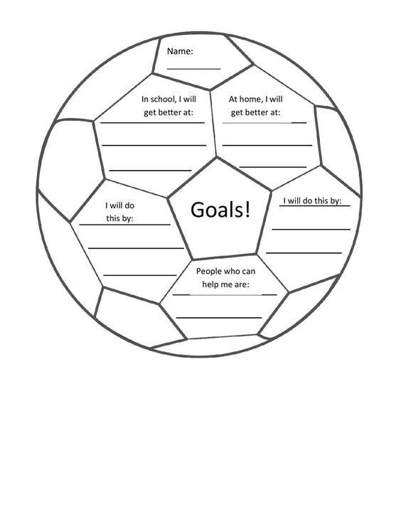 Camps, Student and Goals worksheet on Pinterest