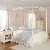 Beautiful canopy bed for a girl's room!