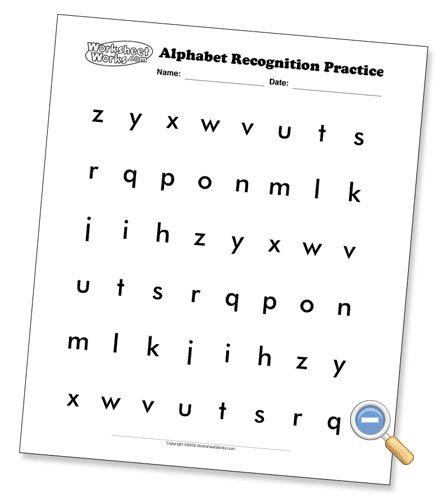 Alphabet Recognition Pages (several font options and upper