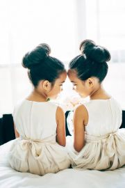 flower girls buns and twin