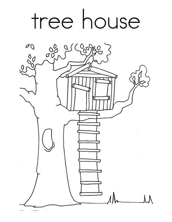 Coloring pages for kids, Treehouse and Coloring pages on