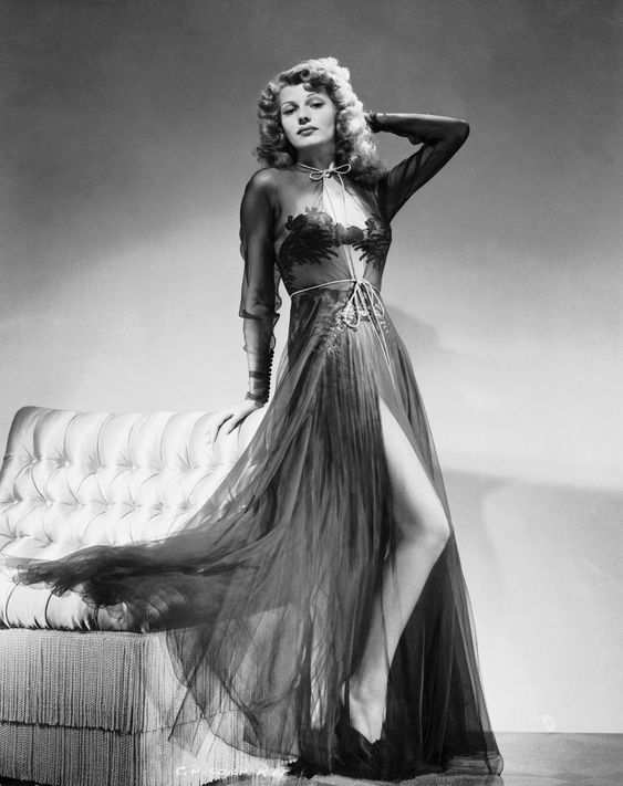 Rita Hayworth In Negligee 1940s From Metroclassics