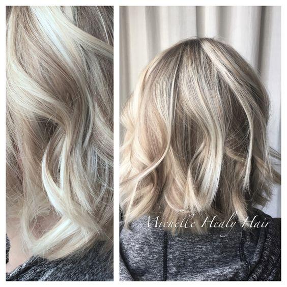 Pale blonde, Dark blonde and Blonde highlights on Pinterest