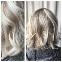 Pale blonde, Dark blonde and Blonde highlights on Pinterest