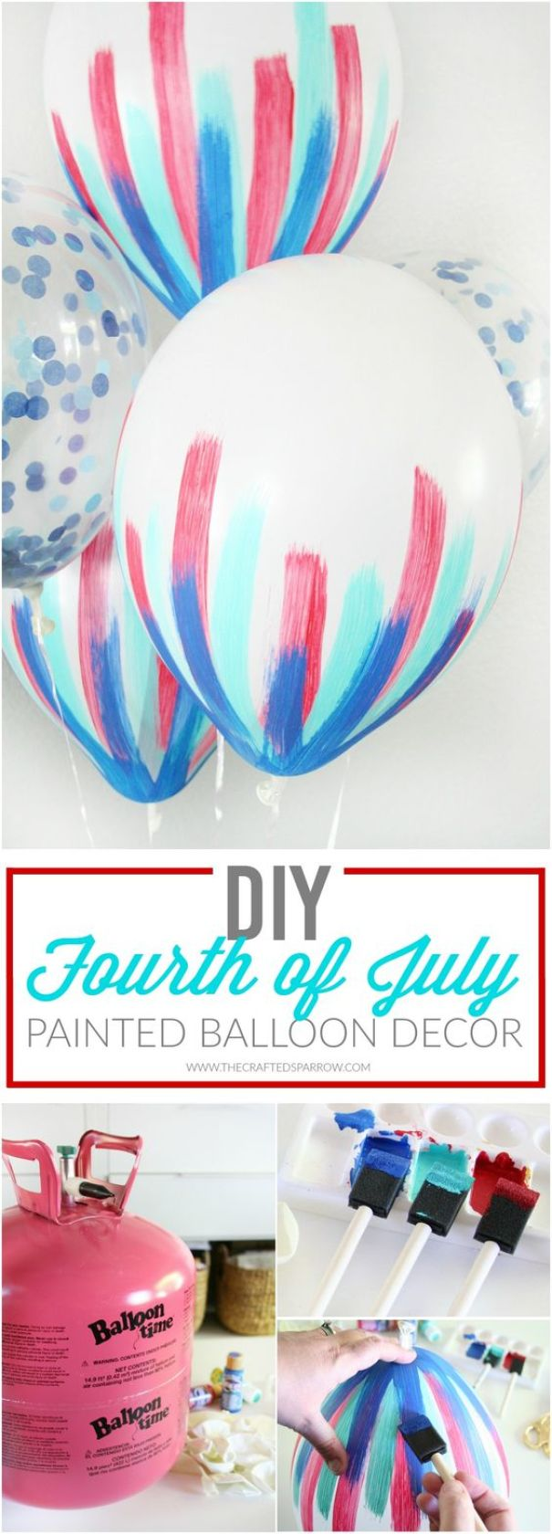 DIY 4th of July Balloon Decor: