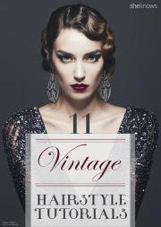 elegant vintage hairstyle tutorials