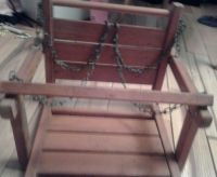 Vintage Hanging Wooden Baby Swing Child Chair   Ebay ...