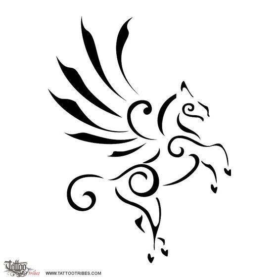Tattoo Of Stylized Pegasus Inspiration Elevation Tattoo