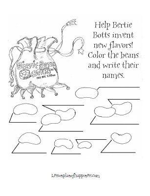 Harry Potter Worksheet: Create your own Bertie Bott's