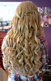 amazing curly long blonde homecoming