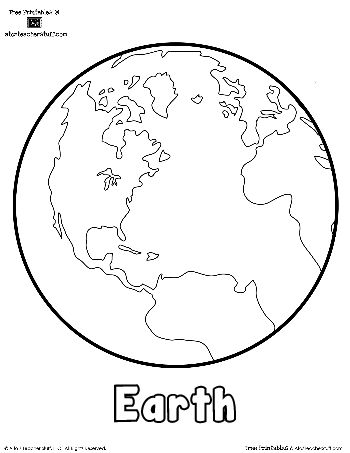 Coloring, Planet earth and For kids on Pinterest