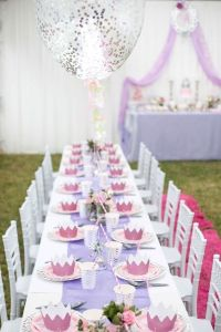 Long and gorgeous party table with chiavari chairs from an ...