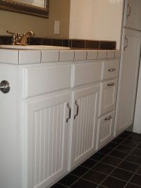Cabinets, Bead board cabinets and Under bed storage on ...