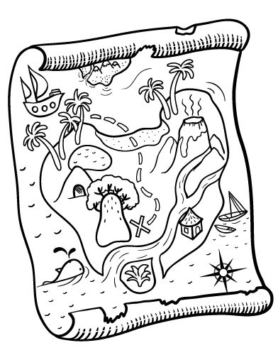 Coloring, Treasure maps and Maps on Pinterest