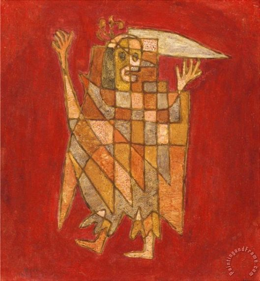 Allegorical Figure Allegorische Figurine Verblassung Painting by Paul Klee: