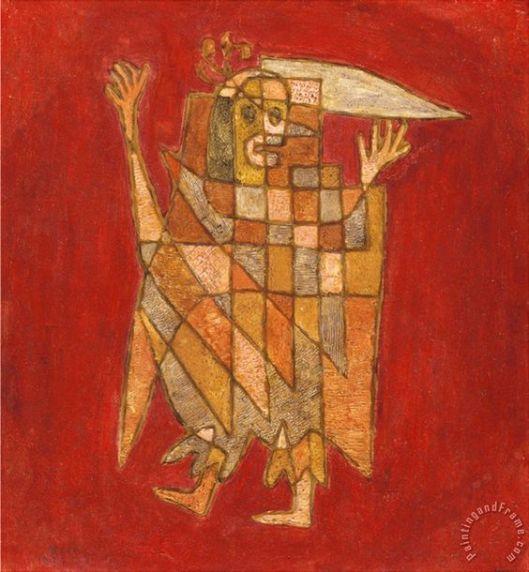 Allegorical Figure Allegorische Figurine Verblassung Painting by Paul Klee: