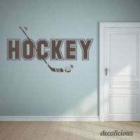 Hockey Wall Decal- Kids hockey decal, name decal, boys ...
