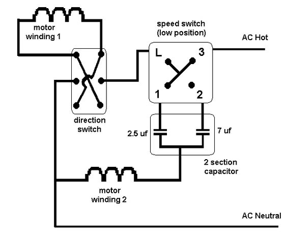exhaust fan motor wiring diagram wiring diagram for