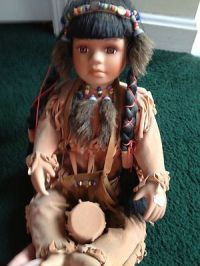 """Duck House Ehapay 14"""" Porcelain Doll Indian Lamp ~Retired ..."""