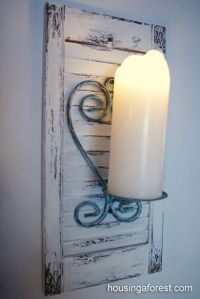 Chippy shutter sconces | Jars, Mason jars and The shutter