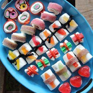 Sushi gominolas, comida divertida