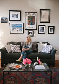 Meg Galligan Home Tour // living room // ikat pillows ...