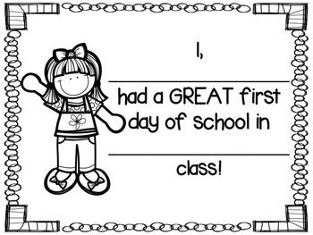 First Day of School Coloring Sheet FREEBIE by Countless