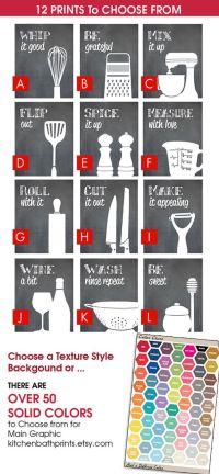 Funny Kitchen Art Print Set (Spatula, Cheese Grater, WIne ...