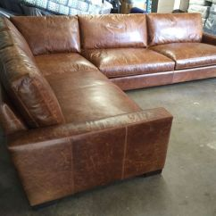 Rh Lancaster Leather Sofa Bonded And Loveseat Set Our Customer In Vancouver, Washington Is Surely Enjoying ...