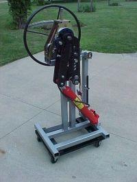 Air/hydraulic bender frame - JD2 tubing bender + HF tubing ...