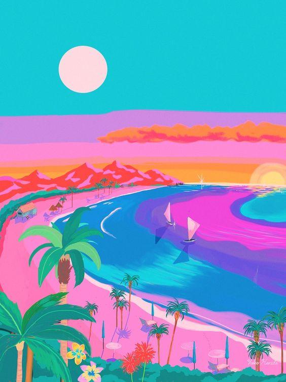 Yoko Honda beach