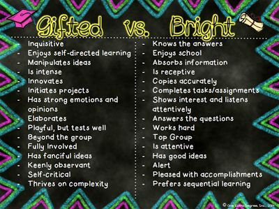 Gifted Education - gifted vs bright